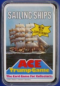 70s Ace Trump card game - Sailing Ships