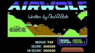 Airwolf computer game - C64 title screen (Elite)