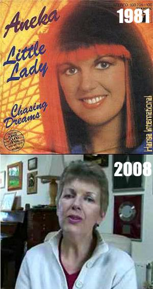 Mary Sandeman as Aneka in 1981 and as herself in 2008