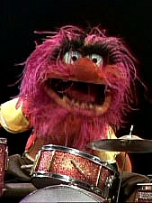 Animal Muppet playing drums