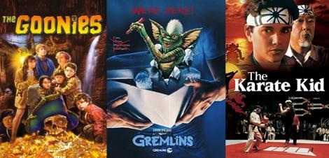 80s Movies Collage - The Goonies, Gremlins, The Karate Kid
