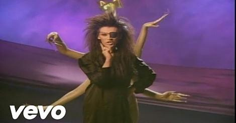 Pete Burns in the video for You Spin Me Round