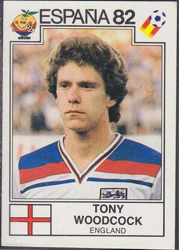 Tony Woodcock England Espana 82 Panini Sticker