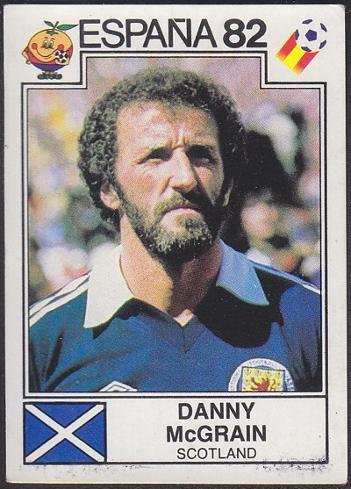 Danny McGrain Scotland - Espana 82 Panini Sticker