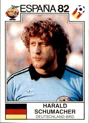 Harald Schumacher West Germany Goalkeeper - Panini Espana 82 sticker