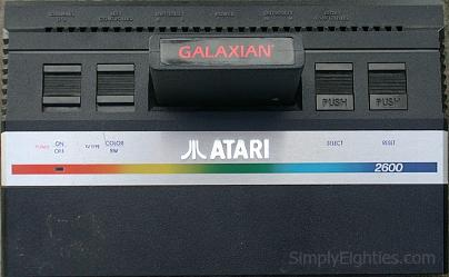Atari 2600 Jr. with Galaxian cartridge
