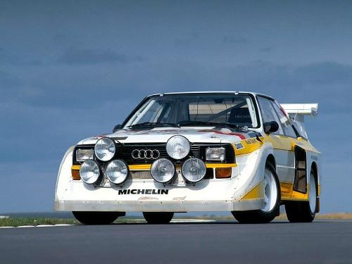 1980s Audi Quattro rally car - from A3 poster print