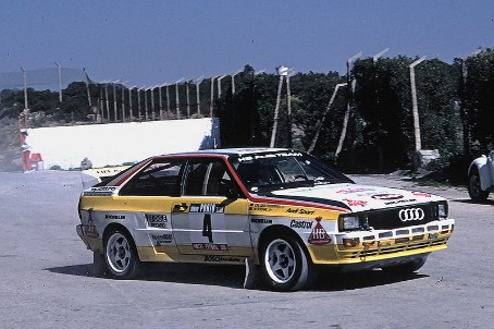 Audi Quattro Series 1 Rally Car at the 1984 Portugal Rally