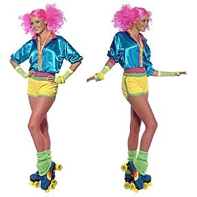 80s Roller Disco Skater Costume for Ladies