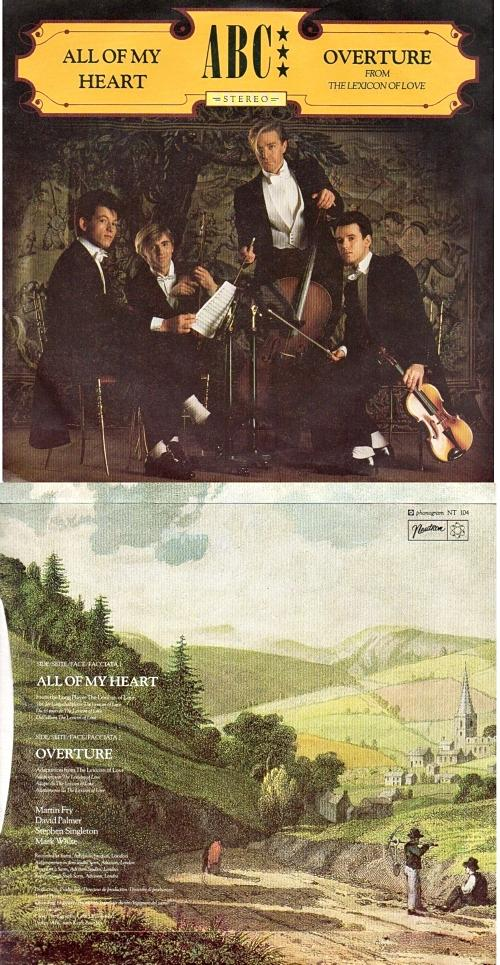 All of My Heart vinyl sleeve front and rear - ABC (1982)