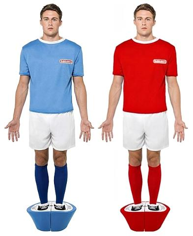 Subbuteo Fancy Dress Costumes for Men - blue and red