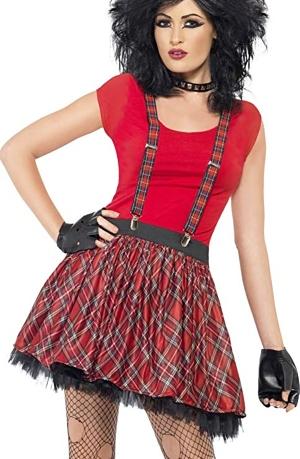 Womens 80s Union Jack Punk Costume