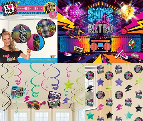 10 Paper Click Clacks 80s Party Table Decorations Ready to Make