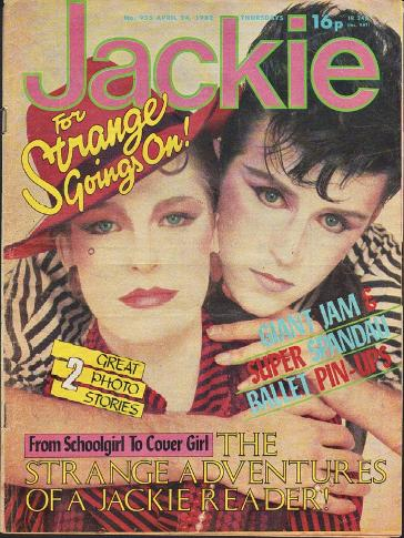 Jackie magazine April 7th 1982 ft. Steve Strange