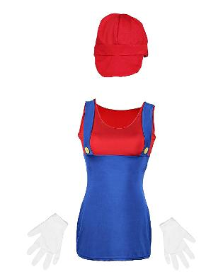 Mario Costume for Ladies by Emma's Wardrobe