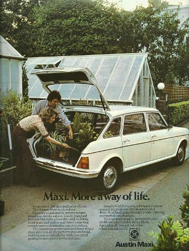 Austin Maxi magazine advert from 1975