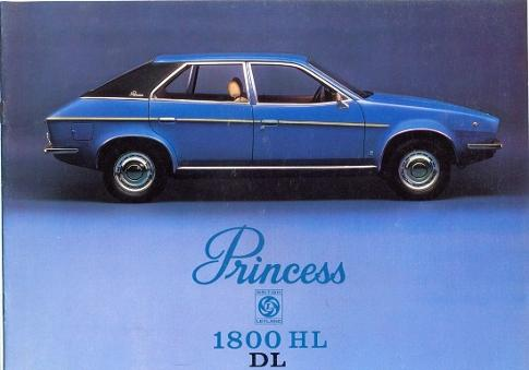British Leyland Princess 1800 HL DL brochure