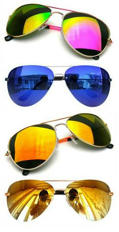Reflective Aviator Sunglasses montage