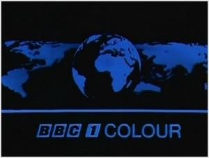 BBC1 Colour mirrored globe ident (1969 to 1974)