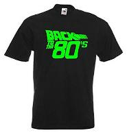 Neon Fluorescent Letters Back to the 80s T-shirt