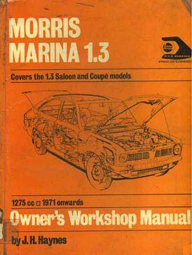 Morris Marina 1.3 Owner's Workshop Manual