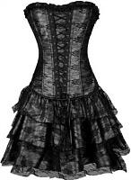 Black Bustier Corset Dress for Madonna fancy dress