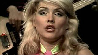 Debbie Harry with Blondie singing