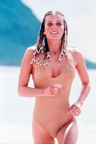 Bo Derek in her swimsuit with cornrows/braided hair in the film