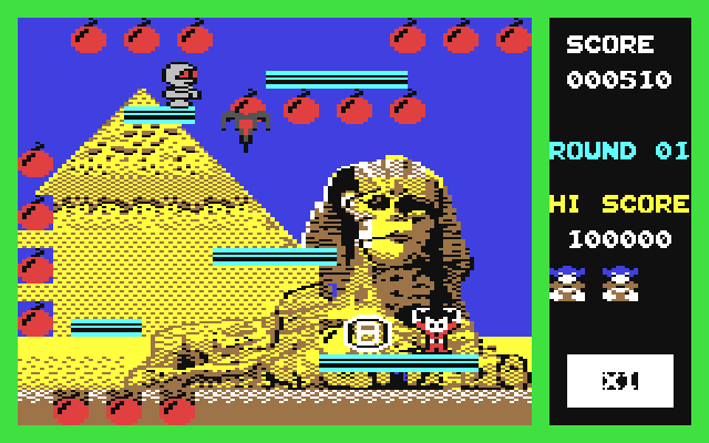 Bomb Jack Screenshot from Commodore 64