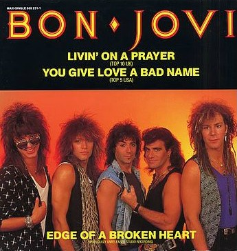 Bon Joci Livin' On a Prayer vinyl single