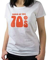 Born in the 70s T-shirt for Ladies