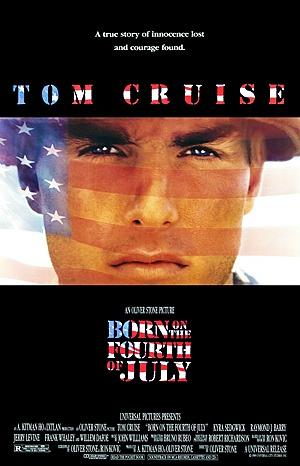 Born On The Fourth Of July (1989) film poster ft. Tom Cruise