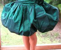 1980s Green Puffball / Bubble Skirt