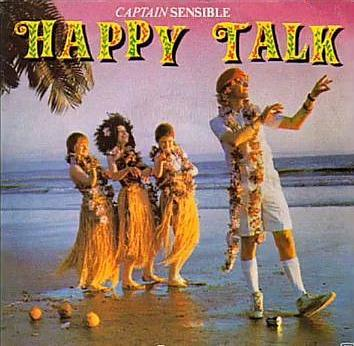 Captain Sensible - Happy Talk (1982) single sleeve