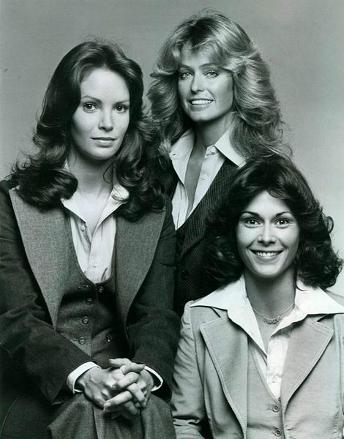 Charlie's Angels in 1976 - Jaclyn Smith, Farah Fawcett and Kate Jackson