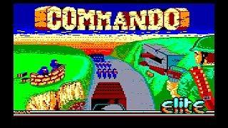 Commando Title Screen from Amstrad CPC464