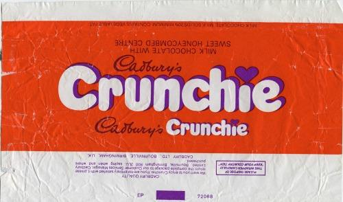 Cadbury;s Crunchie wrapper 80s