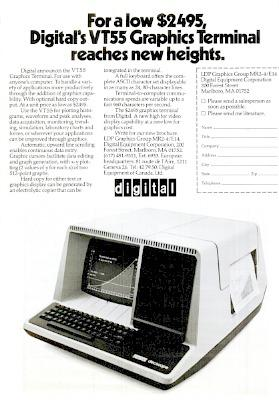 DEC VT55 Graphics Terminal advert (1975) from Computerworld