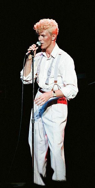 David Bowie in 1983 on his Serious Moonlight tour