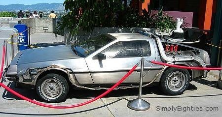 The DeLorean time machine used in the Back To The Future movies