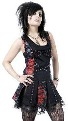 Dead Threads Red Graffiti Goth Punk Dress