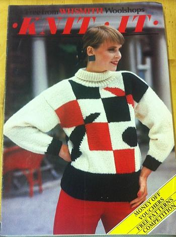 WHSmith Knit It Magazine 1986 - ft. Womens 80s pullover
