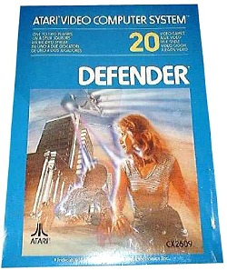 Defender Atari 2600 Cartridge