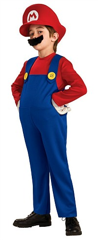 Deluxe Super Mario Bros Costume for Boys