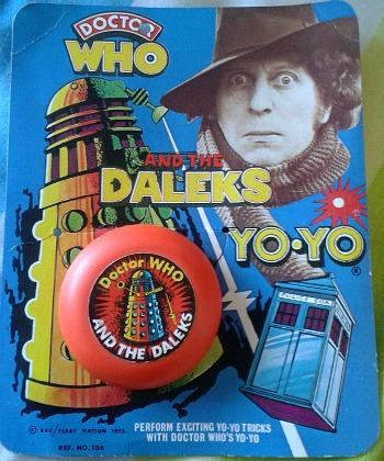 Doctor Who and the Daleks carded Yo-Yo (1975) Marx Toys