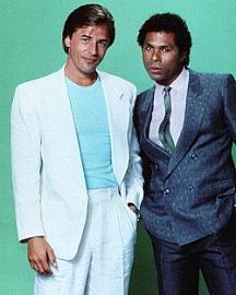 Men's 80s Fashion - Don Johnson's white suit in Miami Vice