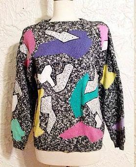 Esprit Sport abstract sweater 1980s