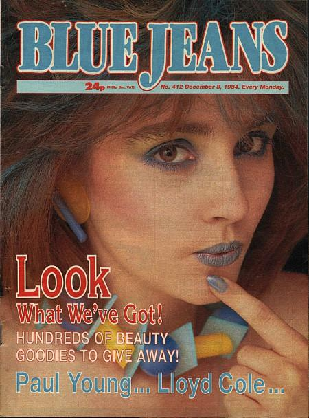 Blue Jeans No.412 Dec 8th 1984 with new logo
