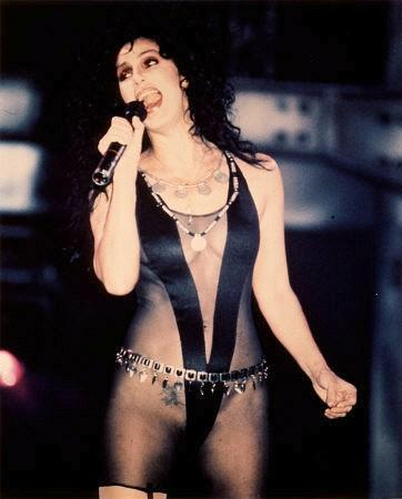 Cher in the video for