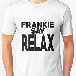 Whire Frankie Say Relax T-shirt for Adults
